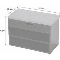Meuble à chaussures deux casiers avec coffre blanc ALAN - Blanc