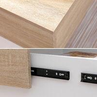 Table basse avec plateau amovible blanche GRETA - Blanc