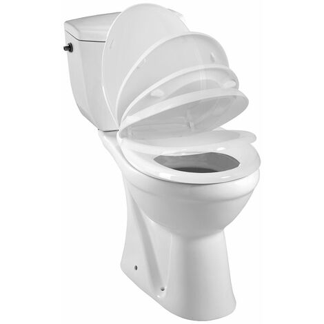 Pack WC à sortie horizontale KARMA Mécanisme 3/6L, alimentation d'eau silencieuse