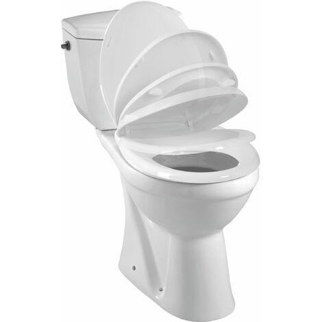 Pack WC à sortie verticale KARMA - Mécanisme 3/6L, alimentation d'eau silencieuse