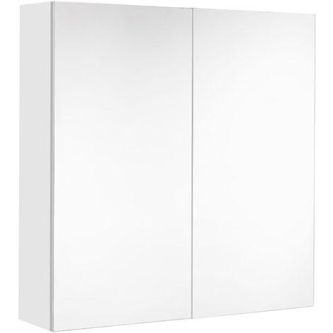 Allibert Armoire De Toilette Eclairante 60 Cm 2 Portes Miroirs Blanc Brillant Prise Ute Juno Tnt 823073