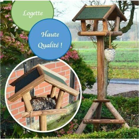 Mangeoire oiseaux exterieur pour oiseaux sauvage modele Logette-314