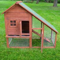 Cage Clapier Enclos lapin petits animaux 138 x 65 x 120 cm Modele : 032 Ferme