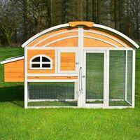 Poulailler en bois pour jardin 200x70x120 cm Modele 127 Cocorico