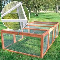 Clapier lapins Rabbit Run 2020 exterieur- Cage Mobile -Couleur Bois
