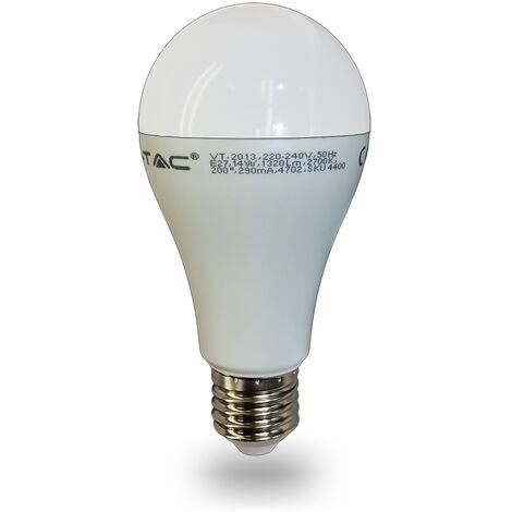 Bombilla LED E27 A65 15W 4500K° Termoplástico 200°