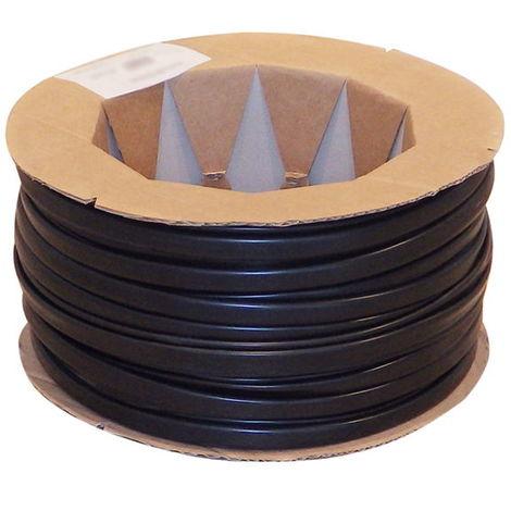 Gaines PVC Flexibles diamètre 24mm Noir Bobine de 50m