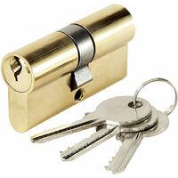 Cylindre de porte ABUS E5 30 x 40 mm 3 clés Canon double entrée barillet anti crochetage