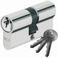 Cylindre porte E50 30x40 mm Barillet de serrure double entrée doré 3 clés