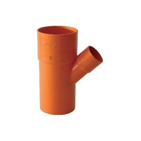DERIVAZIONI 45° RIDOTTE IN PVC ROSSO Diam. 100 x 50