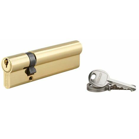 THIRARD - Cylindre de serrure double entrée SA, 30x80mm, anti-arrachement, laiton, 3 clés