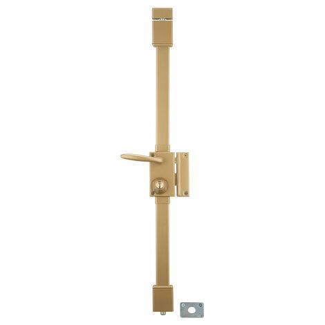 THIRARD - Serrure en applique Targa à fouillot pour porte d'entrée, droite, 3 pts, cylindre Ø23mm, axe 45mm, bronze, 4 clés
