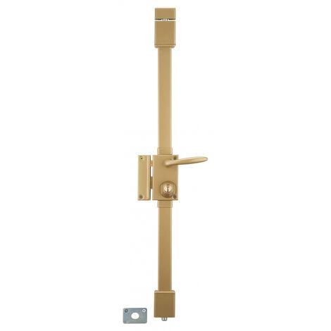 THIRARD - Serrure en applique Targa à fouillot pour porte d'entrée, gauche, 3 pts, cylindre Ø23mm, axe 45mm, bronze, 4 clés