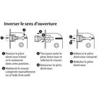 THIRARD - Boitier de serrure encastrable à cylindre pour menuiserie métallique, axe 10.5mm, bouts carrés, inox
