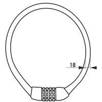 THIRARD - Antivol à combinaison Twisty, 4 chiffres, câble acier, vélo, 18mmx0.6m, noir