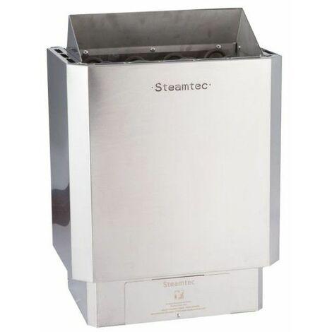 Poêle à sauna 6 Kw premium avec commandes intégrées finitions inox