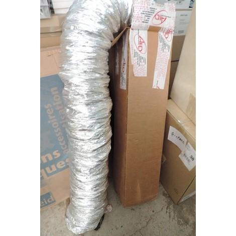Conduit souple isolé Ø 160mm longueur 10m en aluminium phonique pour ventilation ballon thermodynamique ATLANTIC 524038