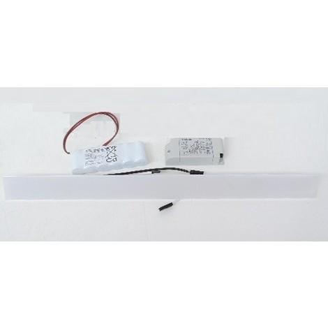 Couvercle à LED 500X40mm avec driver 230V et batterie pour éclairage de secours sur goulotte GTL DRIVIA LEGRAND 030005