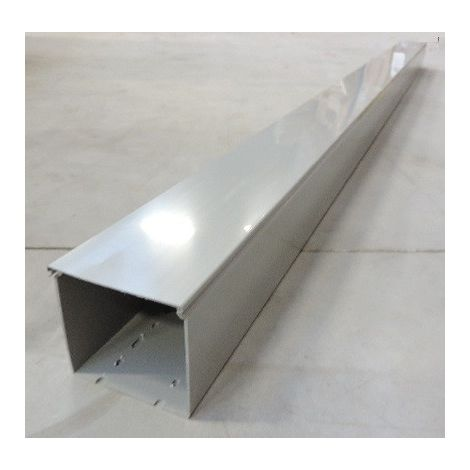 Goulotte de câblage grise paroi pleine 100X100mm (au mètre) fond pré-perforé avec couvercle SCHNEIDER 3916300