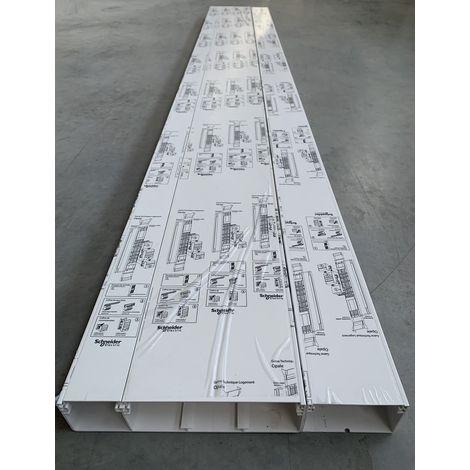 Goulotte GTL 18 modules H2500mm Larg 254+105mm P63mm avec couvercles et accessoires OPALE SCHNEIDER OPL10536