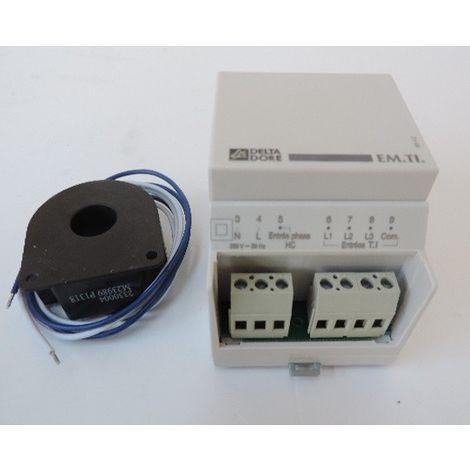 Emetteur télé-information modulaire pour recréer signal d'un compteur électronique (délestage + HP/HC) EM TI DELTA DORE 6250031