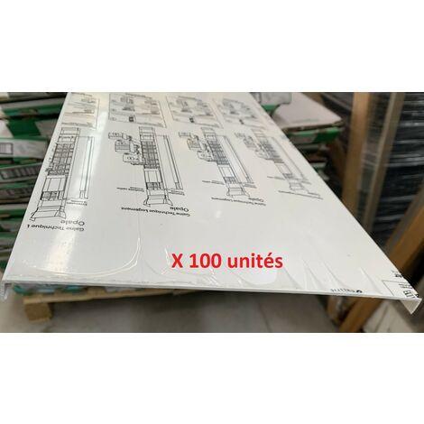 Lot de 100 couvercles pour goulotte GTL 13M largeur 244mm Hauteur 2600mm blanc Opale IK09 SCHNEIDER 13526