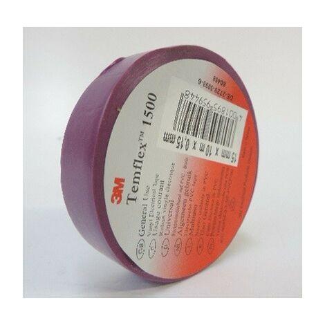 Scotch isolant électrique violet rouleau de 10m x 15mm adhesif Temflex 1500 3M 80468