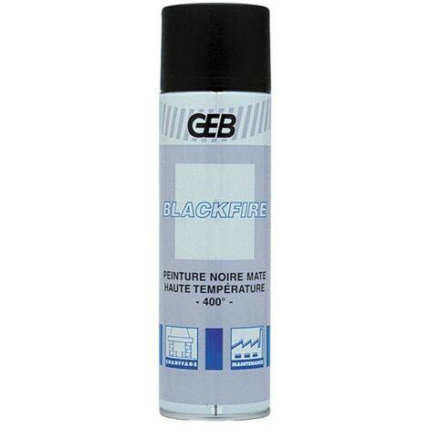 Peinture noir haute température 400° Blackfire bombe aérosol 650ml GEB 814261