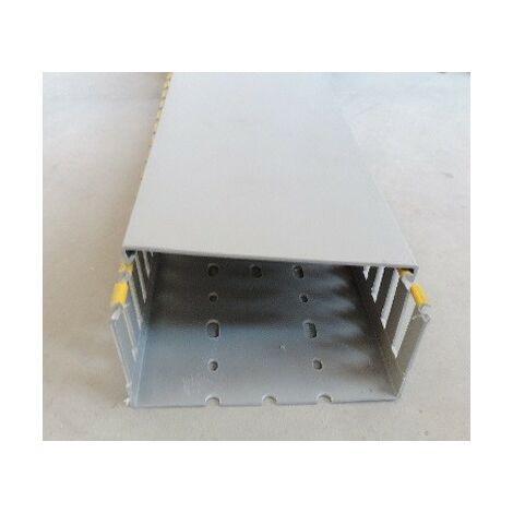 Goulotte de câblage 120x60mm grise RAL7030 (au métre) au pas de 20 avec couvercle T1-N IBOCO B00842