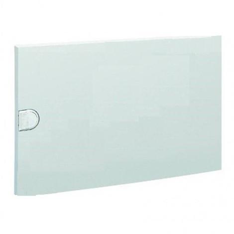 Porte opaque blanche pour coffret 1 rangée 18 modules VB18 VEGA HAGER VZ008