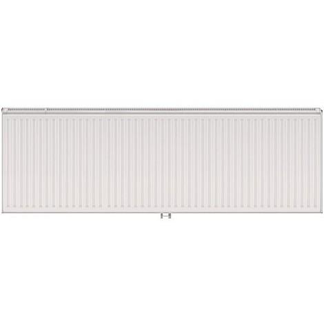 Radiateur eau chaude 3083W panneau double blanc type 22 H600mm L1800mm raccordement central VONOVA T6 FINIMETAL 22VM60-1800