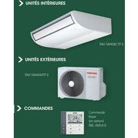 Ensemble climatisation console plafonnier 3.6KW Digital Inverter complet avec UI + UE + commande filaire TOSHIBA CTP