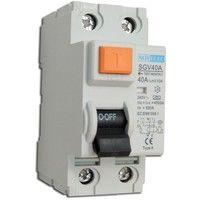 Interrupteur différentiel 40A 2P 30mA type A borne vis norme NF RCCB NOVELEC SGV40A