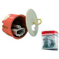 Boite d'encastrement BBC Ø 70mm PDC prof 55mm DCL + douille E27 + fixoplaf (à l'unité) anneau 360° Planète Box CAPRI 732508