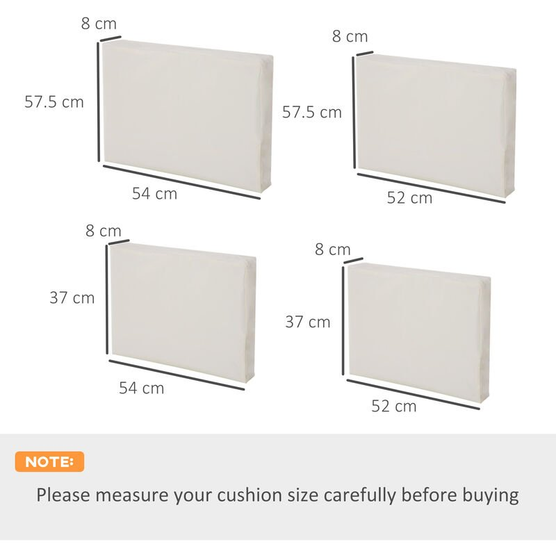 Outsunny Rattan Garden Wicker Furniture, Outdoor Furniture Replacement Cushion Covers