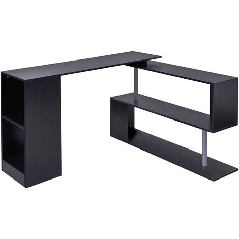 Homcom 360 Rotating Corner Desk, Office Corner Desk Units