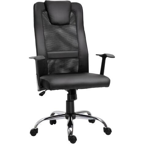 Vinsetto High Back Mesh Office Chair Swivel Ergonomic Task Executive Seat Adjustable - Black
