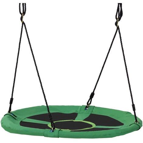 HOMCOM Giant Round Swing Seat Hanging Tree Backyard Playground Outdoor 100cm