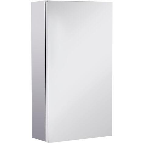 HOMCOM Stainless Steel Wall-mounted Bathroom Mirror Cabinet Single Door 300W (mm)