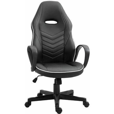 Vinsetto Sleek High Back Office Chair Executive 360 Swivel w/ Wheels Padding White