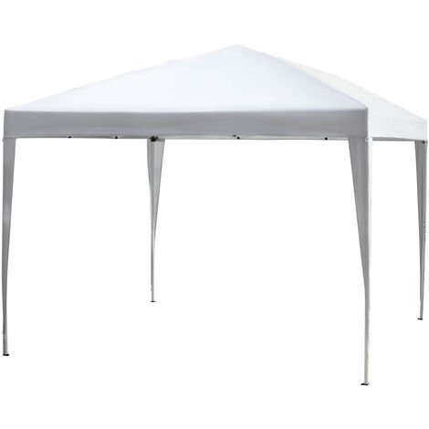 Outsunny 3 x 3M Garden Heavy Duty Pop Up Gazebo Marquee Party Tent Wedding Canopy (White) With Carry Bag