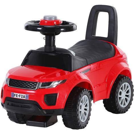 HOMCOM 3-in-1 Baby Ride On Car Walker Slider Stroller Under Seat Storage Red