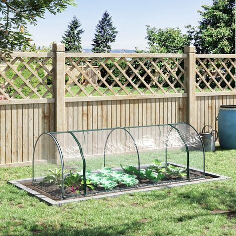 Outsunny Mini Tunnel Greenhouse w/ Roll Up Doors Outdoor Gardening 80x250cm