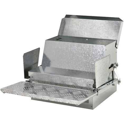 PawHut Steel Aluminium Automatic Chicken Feeder Pet Poultry Food Anti-Slip