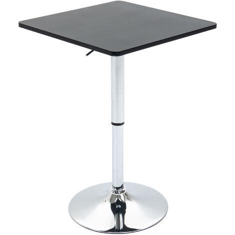 HOMCOM Modern Adjustable Counter Bar Table w/ Steel Frame Square Top Home Furniture