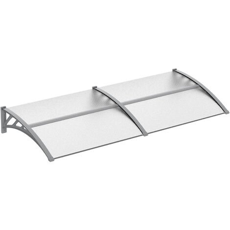 Outsunny 200cm Double Door Window Canopy Rain Shelter Cover Protector Clear