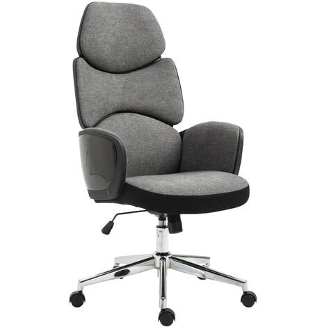 Vinsetto Modern Office Chair Ergonomic Padding High Back Swivel Grey Black