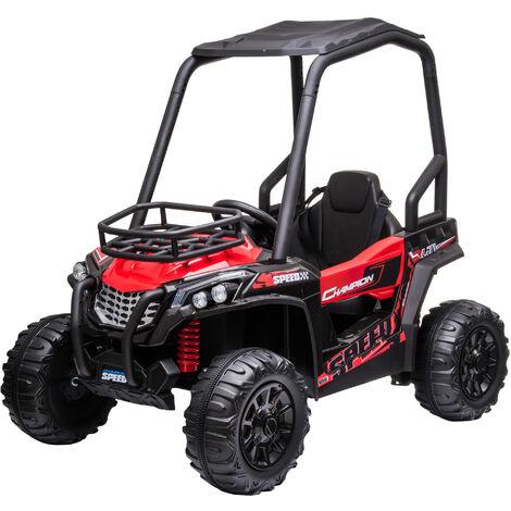 HOMCOM 12V Kids Ride On Off-Road UTV Car Outdoor Vehicle 3-8 Yrs Red
