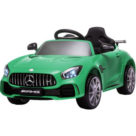 HOMCOM 12V Licensed Mercedes Ride-On Car w/ Lights Music Remote 3-5 Yrs Green