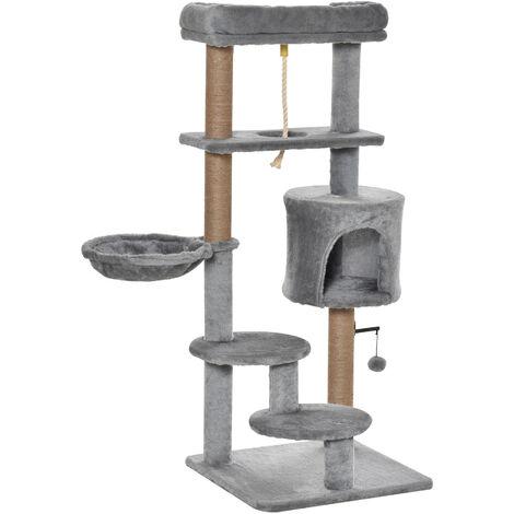 PawHut Cat Tree Climbing Kitten Activity Centre w/ House Hammock Bed
